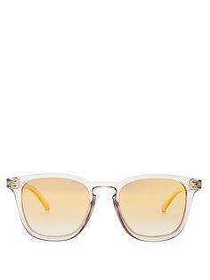 Le Specs No Biggie square-frame sunglasses