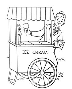 Transportation Coloring Page Ice Cream Truck need to