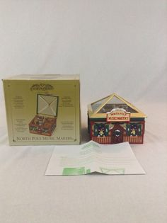 Mr. Christmas Gold Label North Pole Animated Music Maker Music Box Holiday Decor #MrChristmas