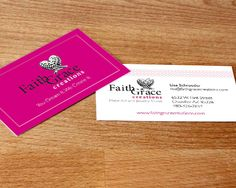 FaithGrace Creations business cards, designed by The Savvy Socialista.