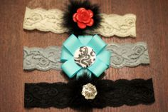 diy elastic lace headbands.