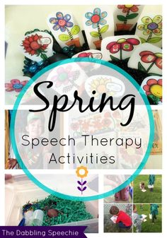 Spring speech therapy activities for the BUSY SLP!  Lots of hands on learning and FREE printables