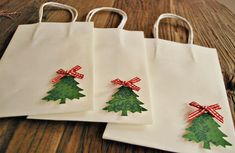 christmas gift bags  white christmas gift bags by oscarandollie. , via Etsy.
