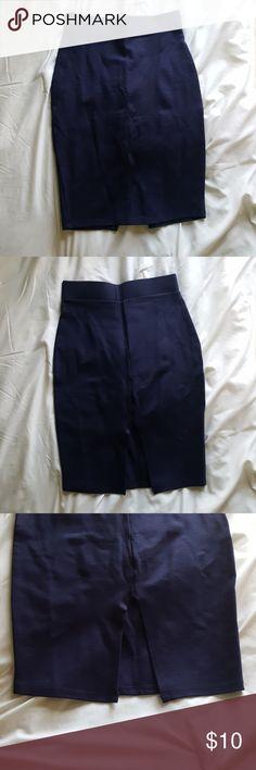 Navy blue skirt Stretchy navy blue pencil skirt Forever 21 Skirts Pencil