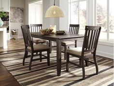 D485D3 in by Ashley Furniture in Steubenville, OH - Dresbar - Grayish Brown 7 Piece Dining Room Set