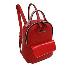 21af90e1e4 Red backpack for women from the Doca Spring-Summer 16 collection. The bag  has