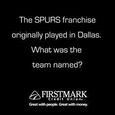 It's SPURS Trivia Time!  Enter to win TWO tickets to The Finals to watch the Spurs sweep the Heat!   http://l.inkto.it/6yuh  Already entered? Remember that you can share from Step 3 again and receive an extra chance to win!