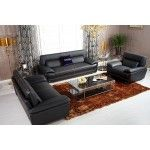 VIG Furniture - K8432 - Black Italian Leather Sofa Set - VGKNK8432   SPECIAL PRICE: $3,565.00
