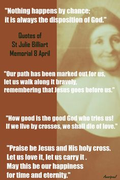 Quotes of St.Julie Billiart