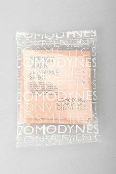 White type on plastic texture over the swiss card colors could look cool packaging and graphic design inspiration, stylish branding Branding And Packaging, Cool Packaging, Print Packaging, Cosmetic Packaging, Beauty Packaging, Plastic Packaging, Ecommerce Packaging, Packaging Ideas, Packaging Design Inspiration