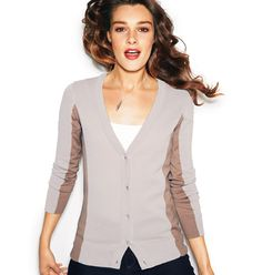 NEW Avon Colorblock Cardigan with Button Detail in beige #fallfashion #fall2013 #fallstyle