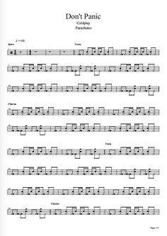 Coldplay - Don't Panic batería