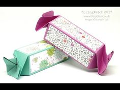 Stampin' Up! Demonstrator Pootles SpringWatch 2017 Candy Wrap Box, No Die Needed!
