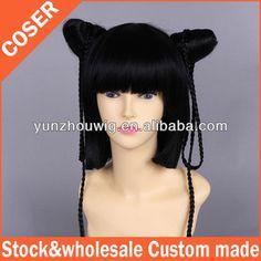 Women Wig Black Butler Ran mao GH44 73cm 29inch 310g