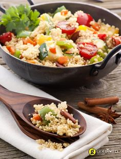 No Problem: 10 New Ways To Toss Up Healthy Salad. Green veggies are excellent for your health, but if you're bored of spinach and kale, we show you how to prep delicious salads without the greens. Roasted Vegetable Couscous, Roasted Vegetables, Vegetarian Main Dishes, Vegetarian Recipes, Healthy Salad Recipes, Lunch Recipes, Eggplant Recipes, Middle Eastern Recipes, Vegetable Recipes