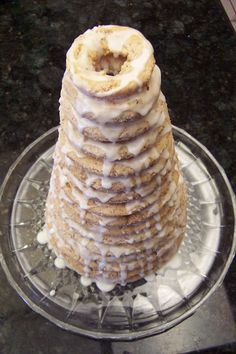 Kransekake ~ Norwegian Crown Cake or Viking Wedding Cake , my family's Christmas tradition