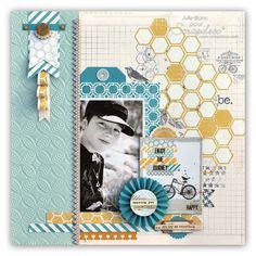 #papercraft #scrapbook #layout     Julie Blanc, June 2012