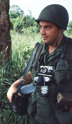 Pulitzer Prize-winning combat photographer Horst Faas in South Vietnam