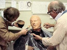 Star Wars: Episode V - The Empire Strikes Back, Harrison Ford | Harrison Ford gets muddied up for a mold of his face that will later be used for the famous carbonite scene