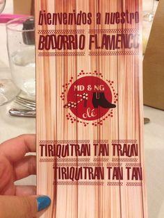 Menú de inspiración flamenca - #BodorrioFlamenco