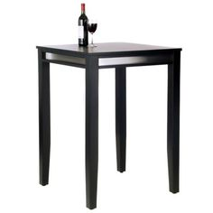 Home Styles Manhattan Pub Table with Stainless Steel Apron - Bar & Pub Tables at Hayneedle