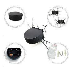 Kaufen (EU Lager)3D Wandleuchte LED Modern Eishockey Ball Design mit Günstigste Preis und Gute Service!