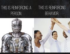 There's a difference between reinforcing people and reinforcing behavior. #reinforcement #behavioranalysis