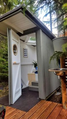 Outside Toilet, Outdoor Bathrooms, Farm Stay, Tool Sheds, Cabins In The Woods, Camping, Coffee Shop, Tiny House, Outdoor Living