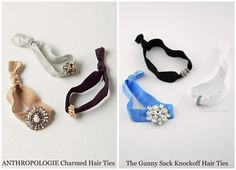 DIY: Anthropologie knock off hair ties [i always knew these things would be easy to make!]