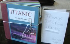 Here is the most impressive Primary Source Picture Book project I received from seventh graders this year; it is sitting next to one that was clearly worked on the night before the two-week assignment was due. I share these two to show you that I too receive an entire continuum of samples with every assignment.