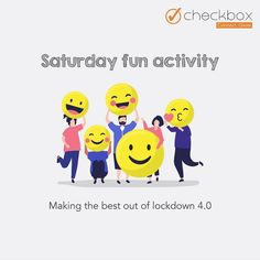'All work and no play makes us all dull and grey'  Saturday fun activity at Checkbox. Making the best out of lockdown 4.0.  Checkbox, we are all in this together!  #funactivity #lockdown #checkboxmarketing Check Box, Fun Activities, Good Times, Digital Marketing, Play, How To Make, Fictional Characters, Fantasy Characters