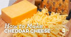 Homemade Cheddar Cheese Recipe | How to Make Cheddar Cheese