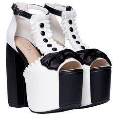 Charla Tedrick 'Luxedo platform tuxedo inspired wedding sandal, black... (€115) ❤ liked on Polyvore featuring shoes, sandals, black white shoes, white and black shoes, white and black sandals, black and white bridal shoes and evening shoes