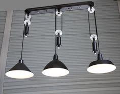 bar vintage adjustable pulley pendant lamp lights e273 led lamparas black retro industrial lighting