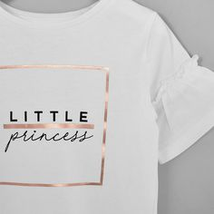 Mini girls white 'Little princess' T-shirt - Baby Girls Tops - Mini Girls - girls Casual Shirts, Tee Shirts, Girls Jeans, Little Princess, Baby Girls, Sportswear, Kids Fashion, Shirt Designs, Short Sleeves