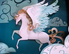 Pegasus by Brittney Lee. Amazing paper sculptor!