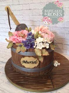 Flower Pot Cake - Cake by Babycakes & Roses Cakecraft