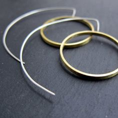 Crop Circles   silver and brass earrings by LUNATICART on Etsy, €36.00
