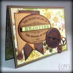 Stampin' Up! Anniversary card created by Melissa @ crazypaperfreak.blogspot.com. From My Heart, Gorgeous Grunge, Chocolate Chip, Always Artichoke, Baked Brown Sugar, Sweater Weather, Old Olive, Crushed Curry
