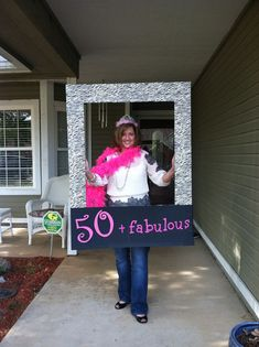 A 50 fabulous photo prop for a birthday party. See more planning a birthday party ideas at www.one-stop-part. Moms 50th Birthday, 70th Birthday Parties, 50th Party, Birthday Woman, 60th Birthday Ideas For Mom Party, Fifty Birthday, 50th Birthday Themes, Birthday Crafts, Grandpa Birthday