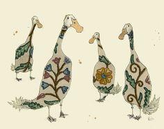 Anna Wright Illustration - ducks