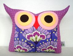 NEW/ Polyfil Stuffed Reflection Lantern Flower  Owl Pillow. $23.00, via Etsy. by Fongstudio  I have two of these little guys and they're fantastic!