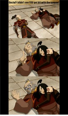 Zuko Discover Avatar: The Last Airbender / The Legend of Korra: Image Gallery (List View) The Legend of Korra/ATLA: ahaha oh uncle Avatar Aang, Avatar Airbender, Avatar The Last Airbender Funny, Avatar Funny, Team Avatar, Iroh, Me Anime, Anime Manga, Atla Memes