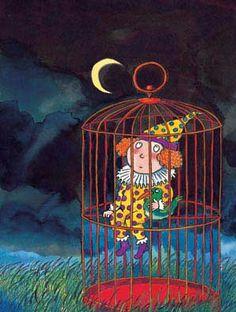 《1.2.3.木頭人》 - 幾米漫画繪本 Taipei Taiwan, Kim Min Ji, Bremen Germany, Cartoon Painting, Bird Cages, Les Oeuvres, Illustrations Posters, Childrens Books, Art For Kids