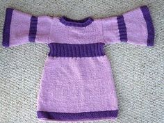 Free Knitting Pattern - Toddler & Children's Clothes: Simple Toddler Dress