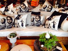 Printed cushions Africa