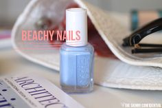 ::my favorite nail polish color for summer is Essie's 'Bikini So Teeny' polish. Plus all of the other essentials in my beach bag on the blog.::