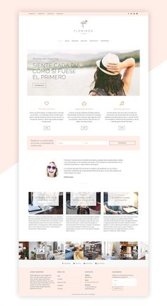Flamingo Theme (spanish) by Hodei Design on Graphics Author - Agency Website Design - Help you design professional website - Flamingo Theme (spanish) by Hodei Design on Graphics Author Layout Design, Website Design Layout, Wordpress Website Design, Blog Layout, Wordpress Theme Design, Branding Website, Design Ios, Flat Design, Website Design Inspiration