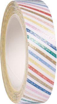 Stripe Glitter Washi Tape via PS