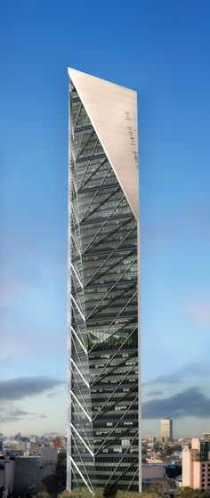 Torre Reforma, Ciudad de México, 244 m (801 ft) (under construction). #futuristicarchitecture